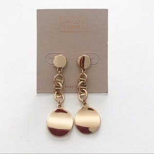 14th & Union Gold tone Drop long Earrings